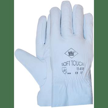 Nappaleder werkhandschoen met elastiek