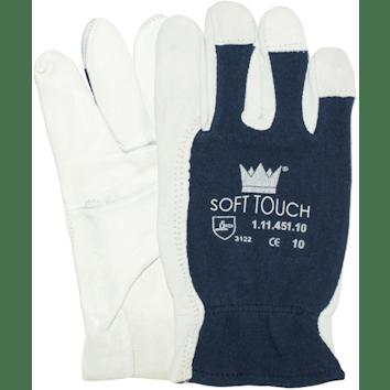 Nappalederen handschoen zonder kap met wingduim