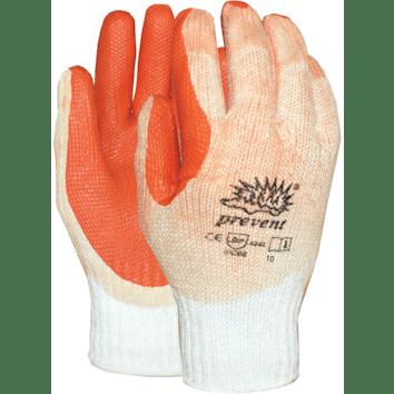 Prevent werkhandschoen met rode palm