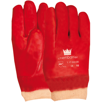 PVC Gesloten Rug werkhandschoen rood