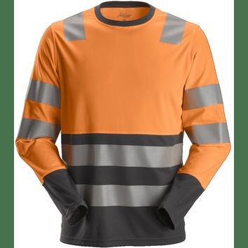 Snickers 2433 AllroundWork, High-Vis T-Shirt met lange mouwen KL2