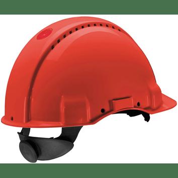 3M Peltor G3000N: extra ventilerende veiligheidshelm met 180° omkeerbaar binnenwerk (rood)