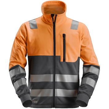 Snickers 8035 Micro Fleece Sweater High Visibility, Klasse 3