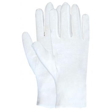 Interlock Katoen werkhandschoen wit opvoering