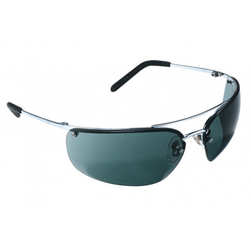 3M Metaliks veiligheidsbril met dun montuur en goede pasvorm (donkere lens)