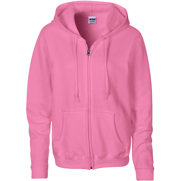 Gildan Hood Full Zip Semi-fit Dames Sweater