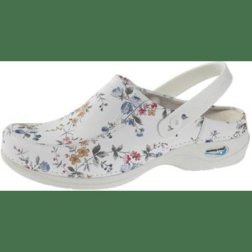 Wash'Go NursingCare medische klomp wit/bloemen