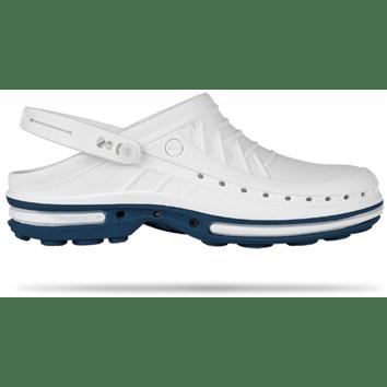 WOCK Clog 02 Blauw witte medische klomp